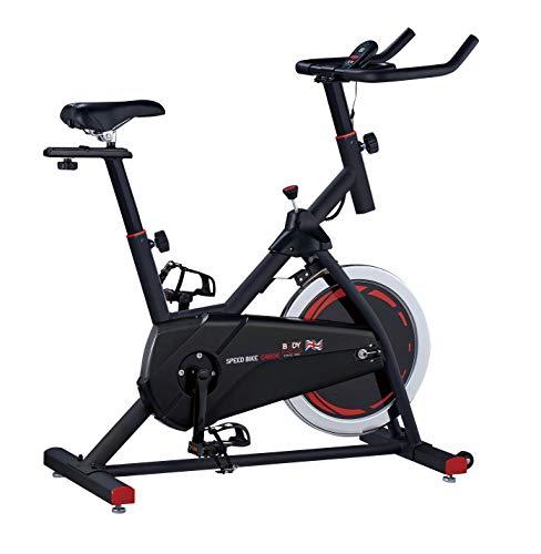 Body Sculpture BC4604 Pro Racing Exercise Bike   8KG Flywheel   Adjustable Resistance   Punch Brake System   Track Your Progress   Transport Wheels   More
