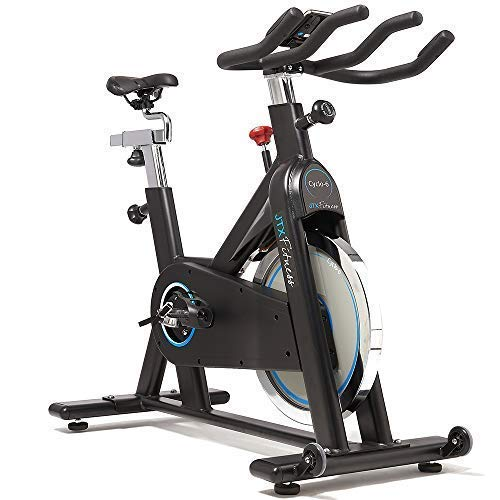 JTX Cyclo 6 Exercise Bike - Gym Spec Indoor Bike - 22kg Belt Driven Flywheel - Heart Rate Chest Strap - Adjustable Seat & Handles - 24 Months Warranty - Gym Equipment At Home - Infinity Resistance