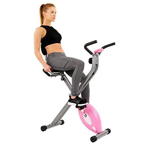 Sunny Health & Fitness Magnetic Folding Recumbent Bike Exercise Bike, 100 KG (220 LB) Capacity - SF-RB1117