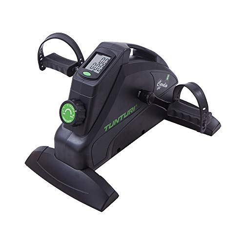 Tunturi Cardio Fit M35 Mini Exercise Bike / Portable Home Pedal Exerciser with LCD Screen Display for arms and legs - Black