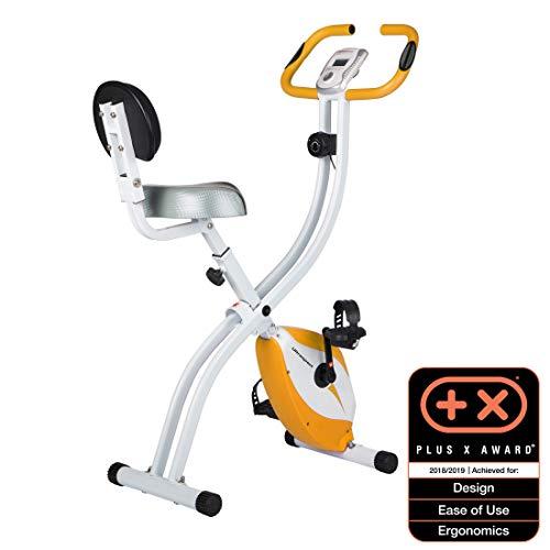 Ultrasport F-Bike Home Trainer 200B with Hand Pulse Sensors, with Backrest, Foldable, Orange