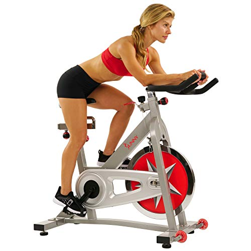 Sunny Health & Fitness Indoor Studio Cycle Pro Exercise Bike with 18 KG (40 Pound) Flywheel and Chain Drive - SF-B901