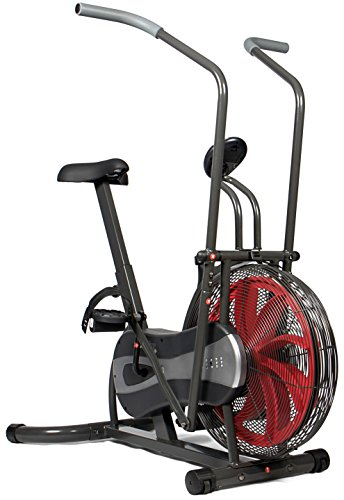 SportPlus Fan Bike - Fan-based and Belt Brake Resistance - Wind Turbine, Full Body Workout - Max. User Weight 100 kg - Safety tested